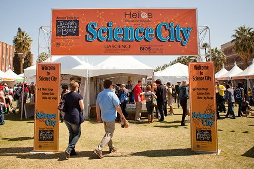 One of the newest features at the Tucson Festival of Books was the Science City.