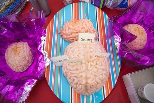 Brains! At the Body-Brain Connection Tent, visitors were treated to how the brain works.